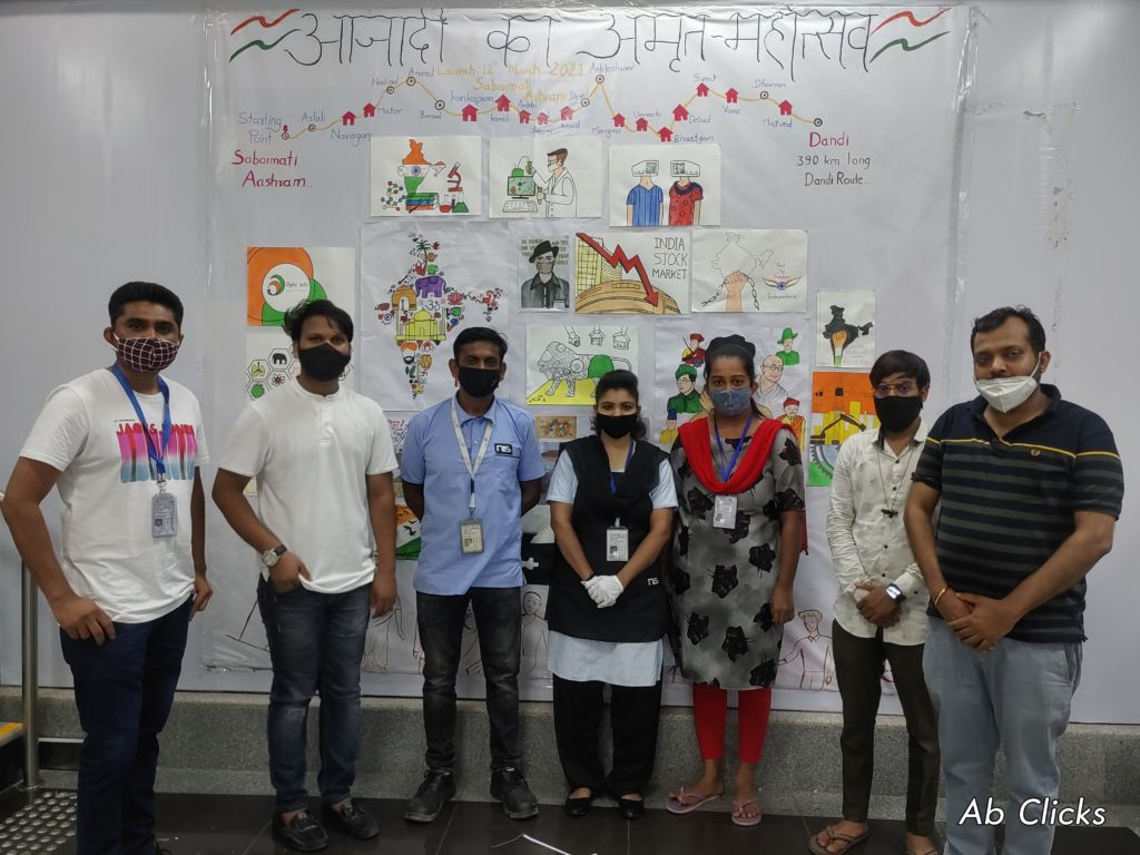 IDT students pay tribute to all Real Warriors against pandemic on Gujarat Foundation Day at Surat Airport.
